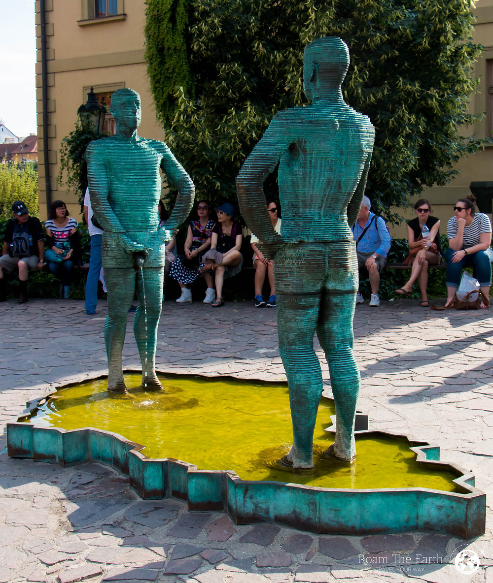 Peeing Statues Prague