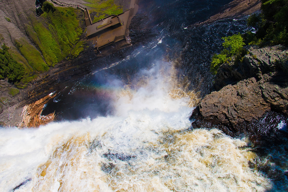 On Top of the Falls, Montmorency Falls