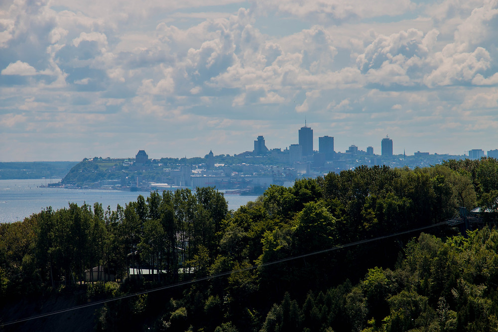 Québec City from Montmorency Falls