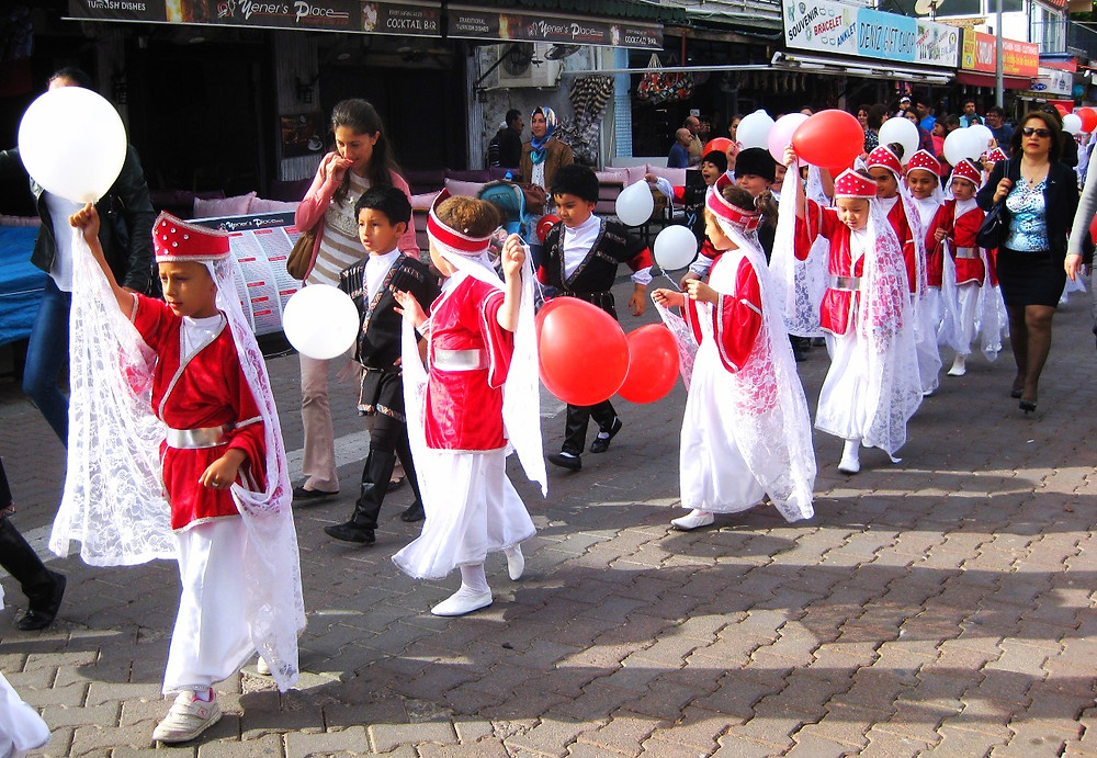 Children Parade in Dalyan