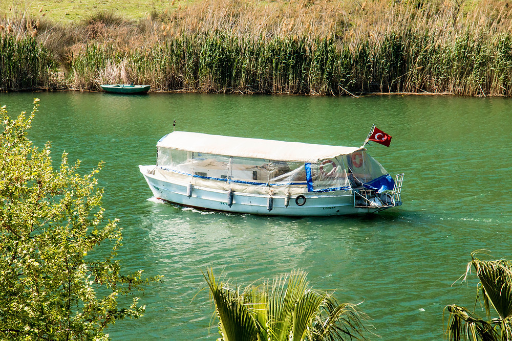 One of Dalyan's many boats