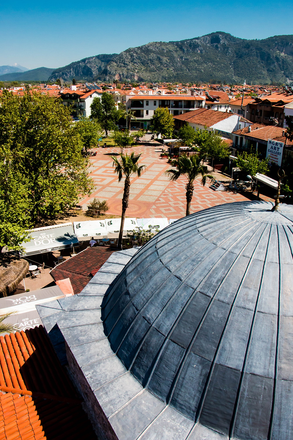 The new dome of the Dalyan Mosque and the Mosque Square