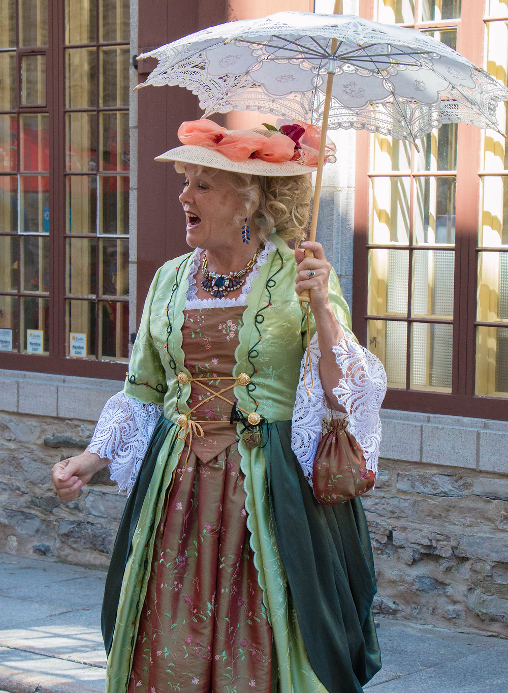 Lady in Costume, the New France Festival, Québec City