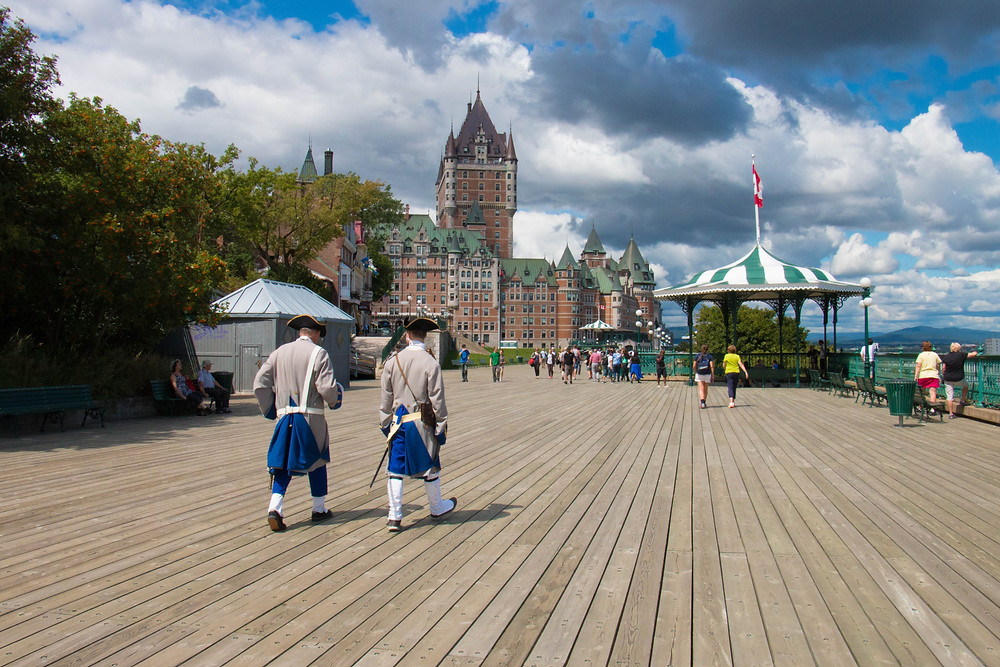 Terrasse Dufferin and Chateau Frontenac