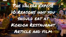 Discovering Dalyan - 10 Reasons Why You Should Eat At Kordon Restaurant