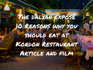 Discovering Dalyan - 10 Reasons Why You Should Eat At Kordon Restaurant