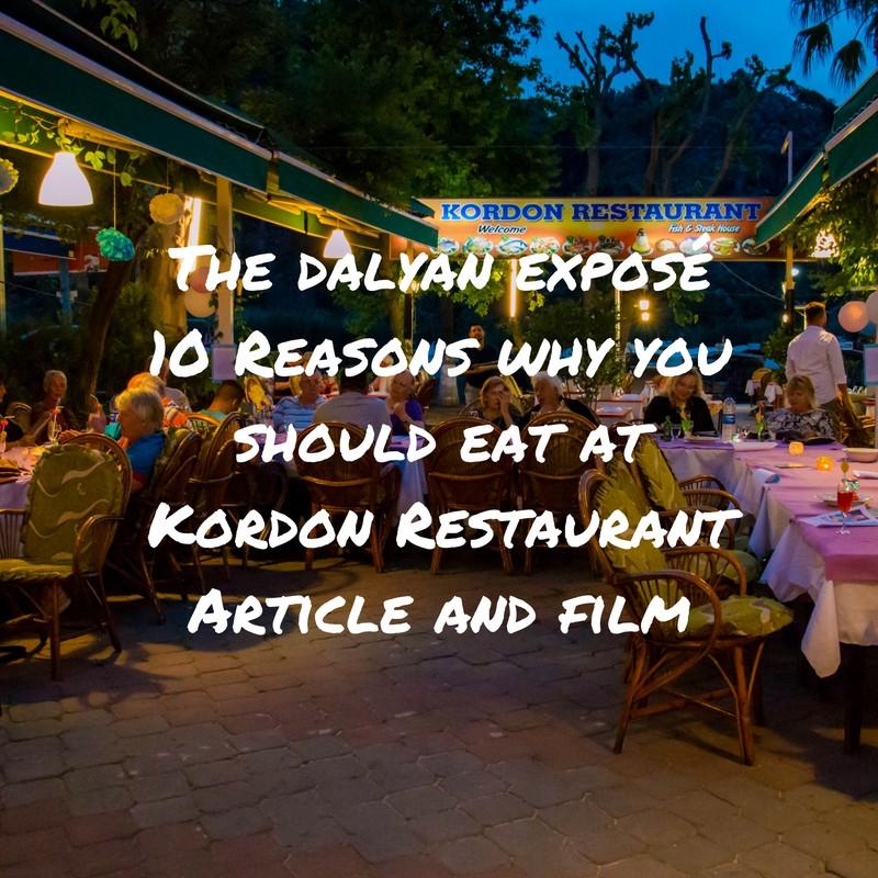 Kordon Restaurant Dalyan Turkey