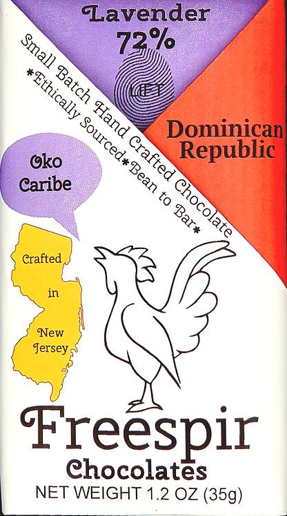 72% Dark w/Lavender- Dominican Republic
