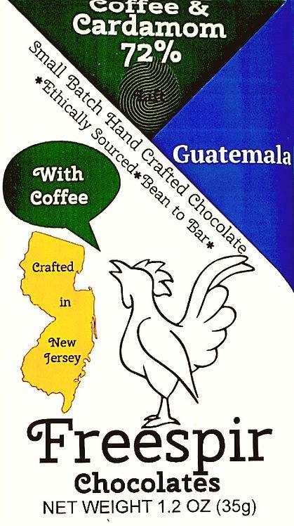 72% Dark- Coffee and Cardamom