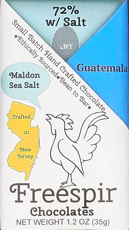 72% Dark w/Sea Salt - Guatemala