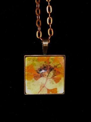 Copper Leaves Pendant