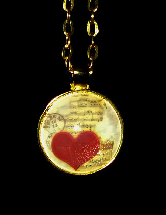 Heart Music Pendant