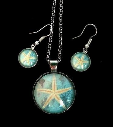 Starfish Pendant Set