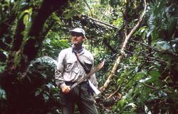 Cutting heavy bush Rio Heath