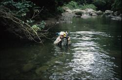 Travelling up Quebrada Marte