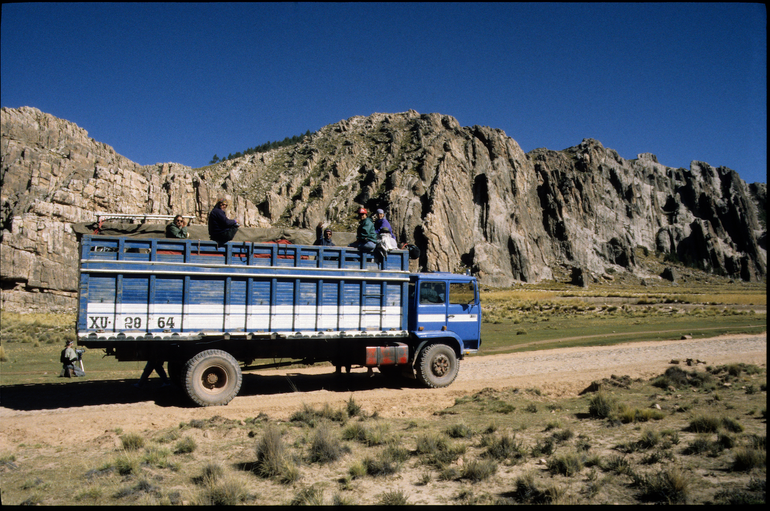 Our truck over the Andean altiplano