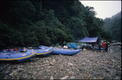 Camp on the Tambopata River