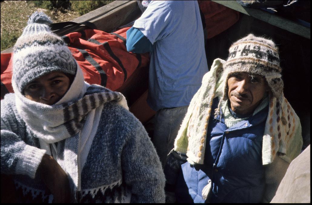 Eddi and Antonio experiencing cold, 16,000' pass