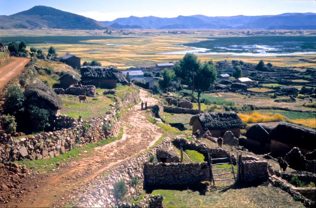 Last village passing Lake Titicaca