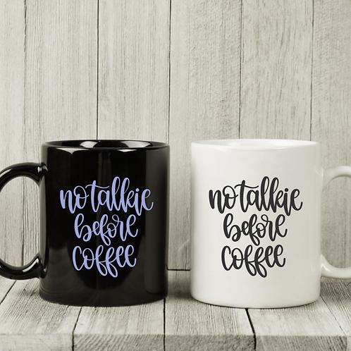 No Talkie Coffee Mug