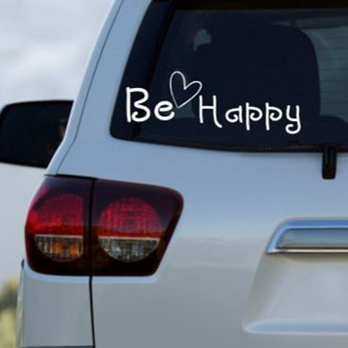 Be Happy Car Decal