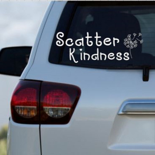 Scatter Kindness Car Decal