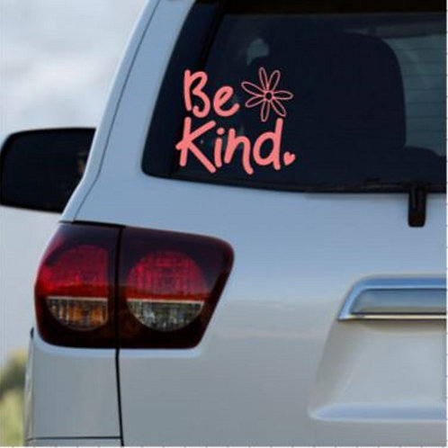 Be Kind Car Decal