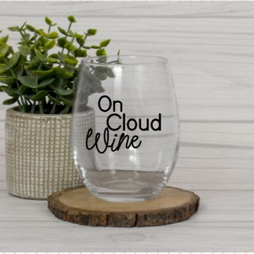 On Cloud Wine glass