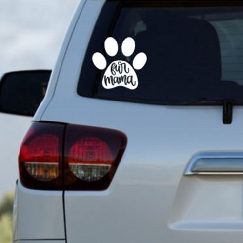 Fur Mama Car Decal