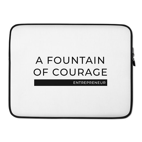 A Fountain of Courage - Laptop Sleeve