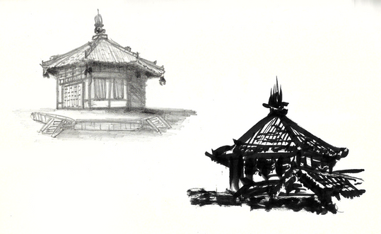 Graphite and Ink- Nara