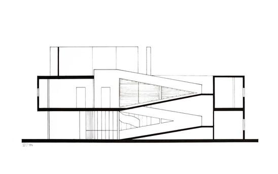 Villa Savoye- Section
