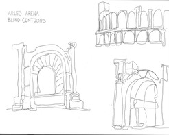 Arles Arena- Blind Contours