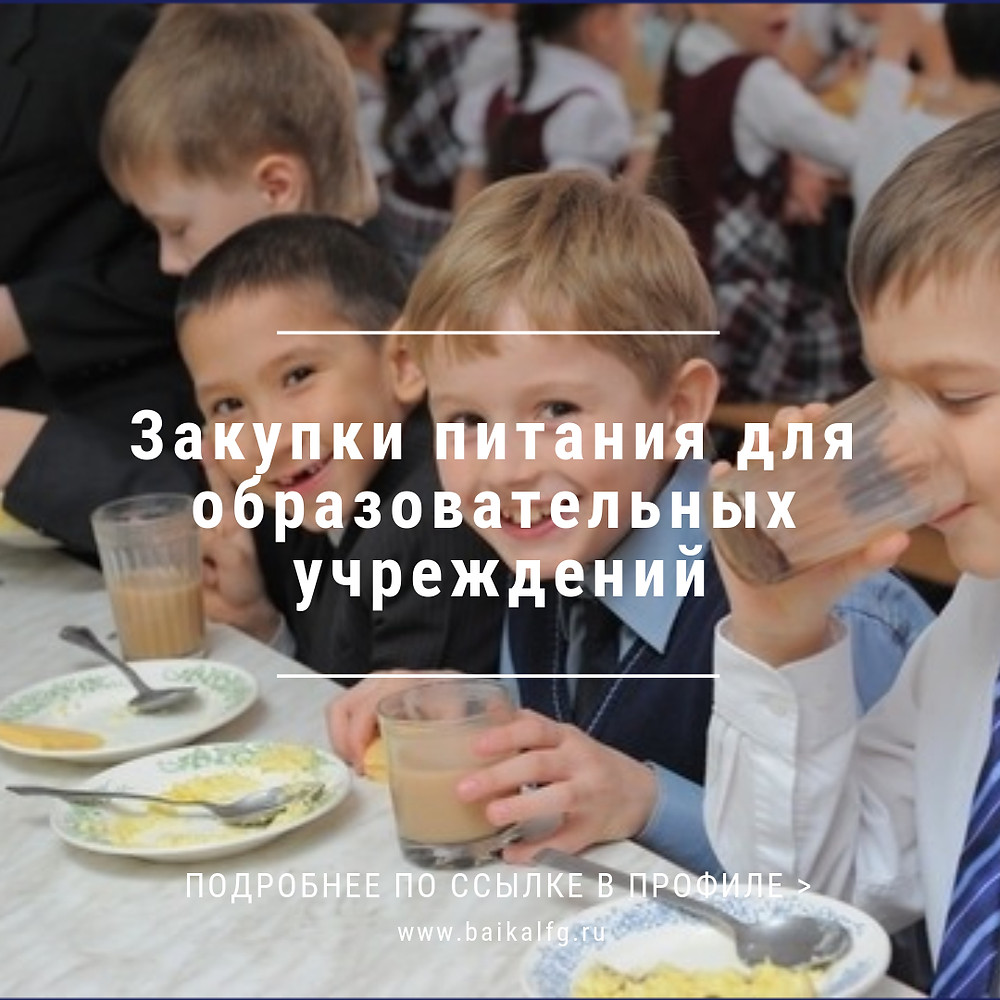 Закупки питания для образовательных учреждений