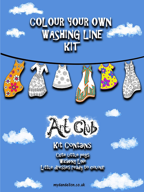 Colour your own Washing Line
