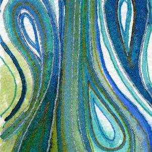 Qi Seventies tiny watercolour.