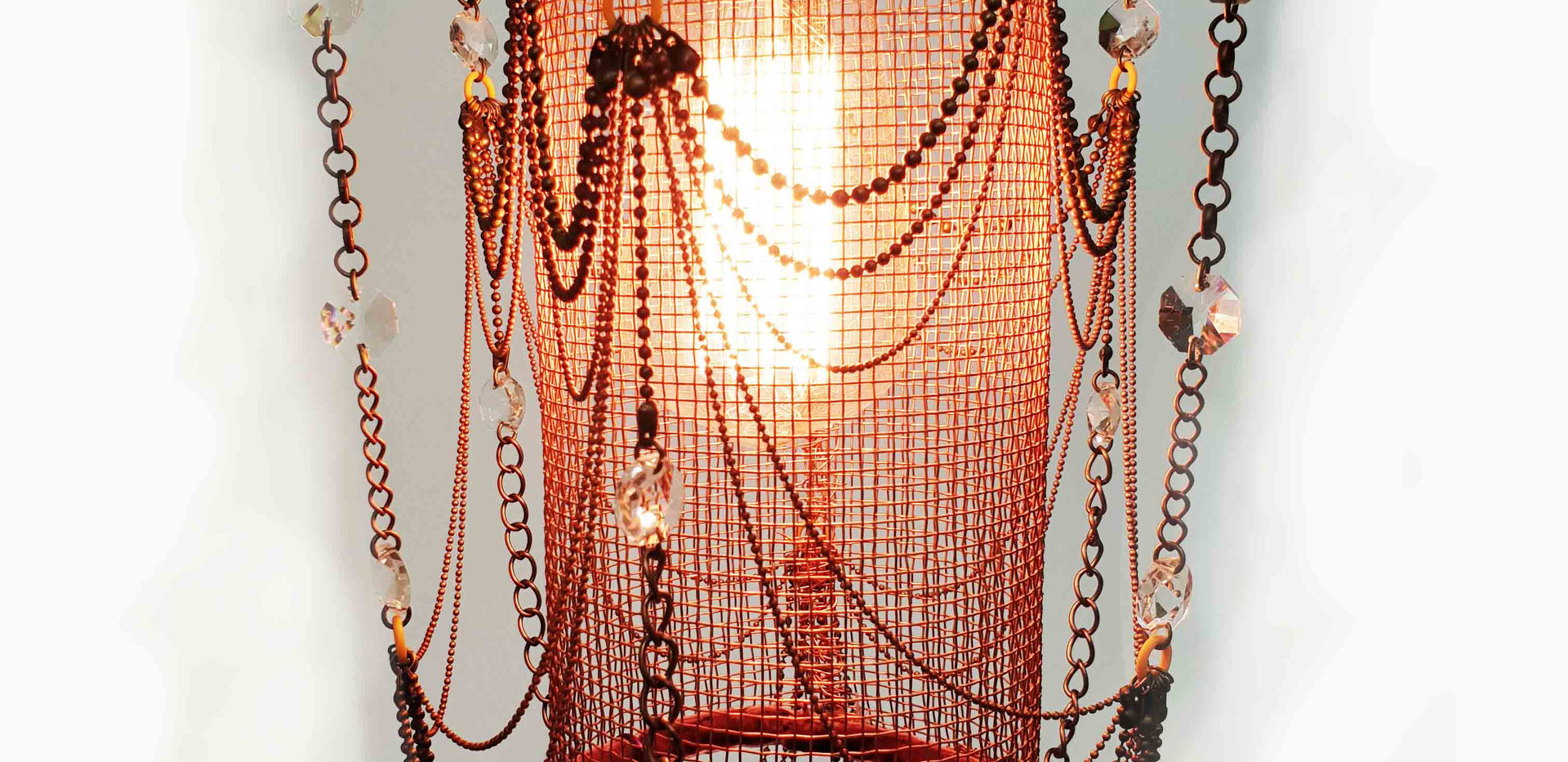 Tall Copper baby Chandelier