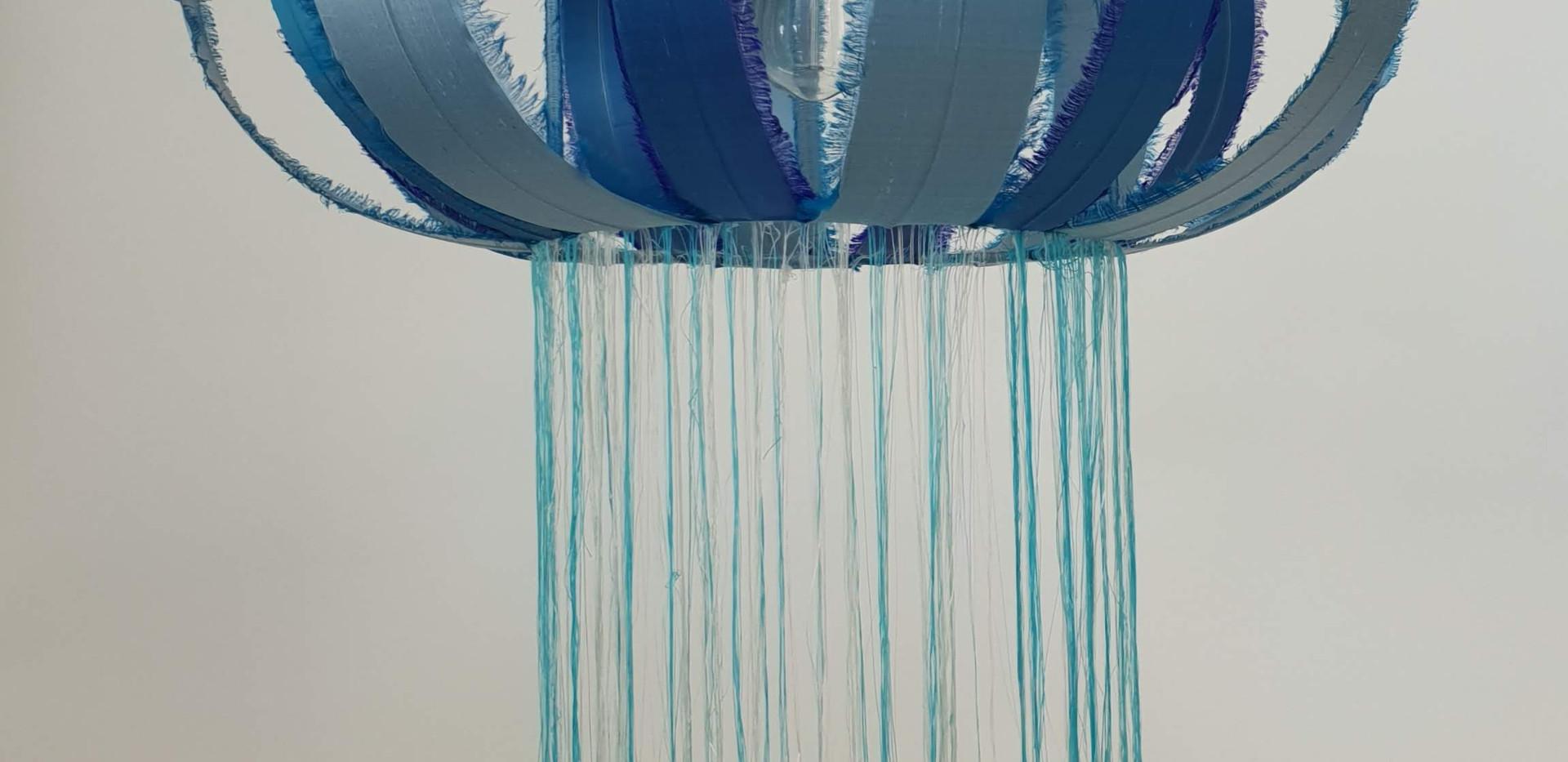 Whole beautiful blue jelly