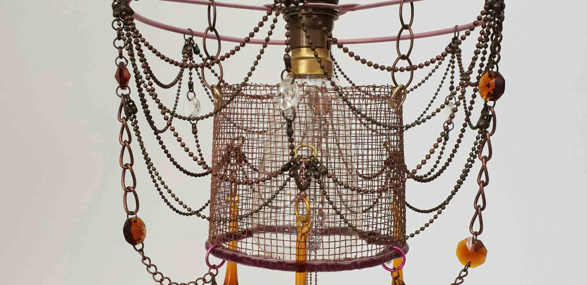 Small Coper Mesh chandelier