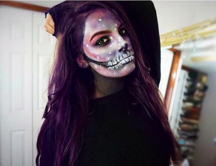 Galaxy Skull💀🌌💜 Last Halloween Makeup