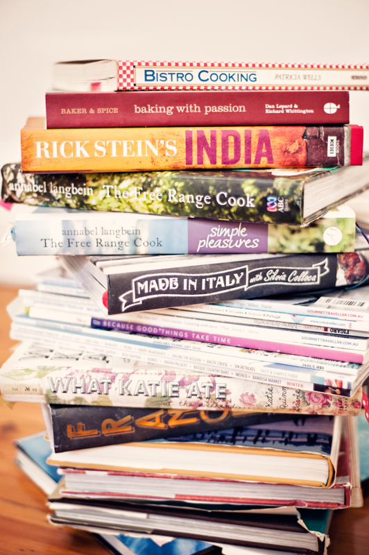 A modest amount of my cookbooks