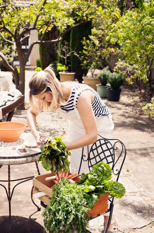 Sorting the veggies