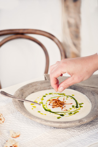 Jerusalem Artichoke Soup with Parsley Oil