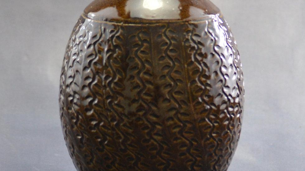 """6""""Vase with vine texture"""