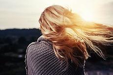 Higligted blonde hair