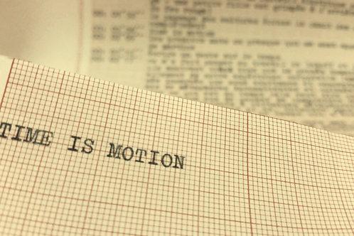 Time is motion • Marcel Houtem