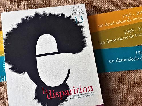Cahier Georges Perec : La Disparition (tirage de tête)