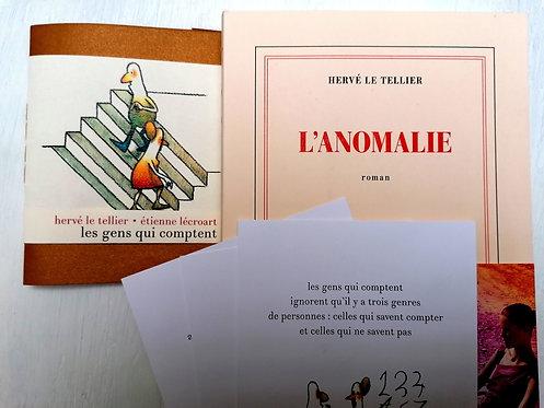 L'Anomalie + Les gens qui comptent • Hervé Le Tellier