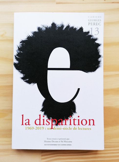 Cahier Georges Perec : La Disparition (édition courante)