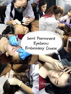 semi permanent embroidery training course